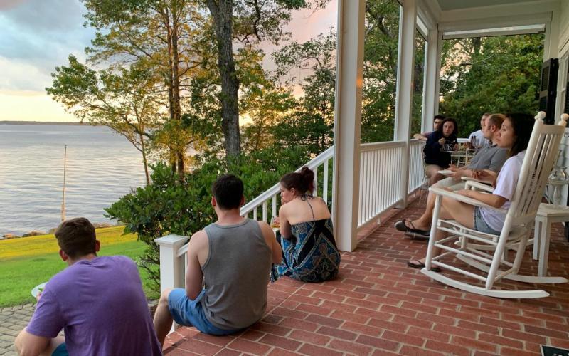 Lab Retreat 2019 - dinner time!