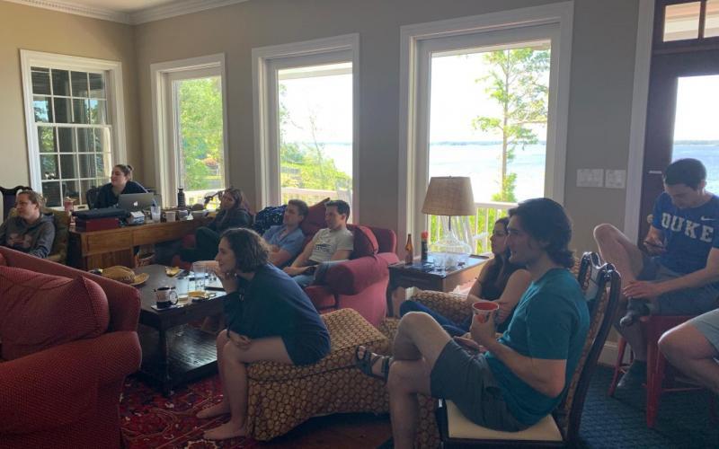 Lab Retreat 2019 - hard at work!